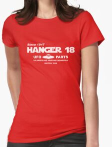Hangar 18 UFO Parts Womens Fitted T-Shirt