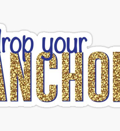 Delta Gamma Drop Your Anchor Sticker