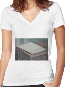 Blank Tablet Women's Fitted V-Neck T-Shirt