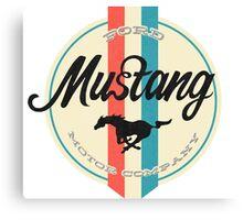 Mustang retro Canvas Print