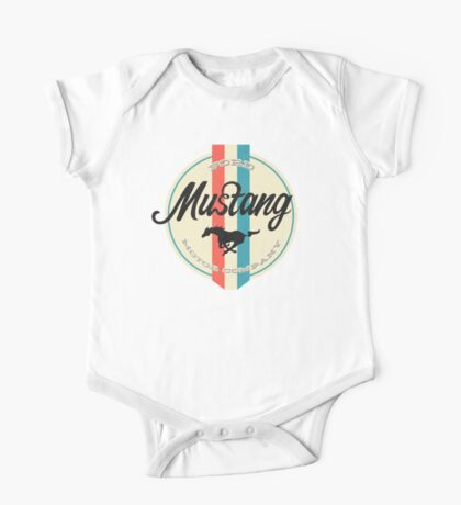 Mustang retro One Piece - Short Sleeve
