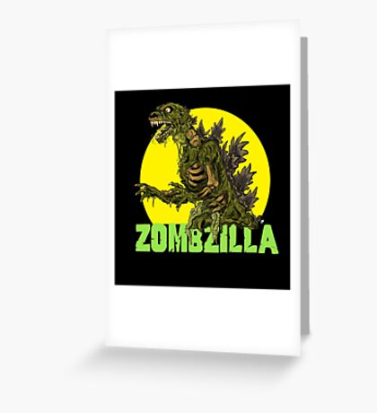 Night of the Living Kaiju Corpses! Greeting Card