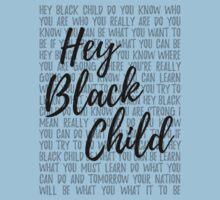 Hey Black Child (light background) Baby Tee