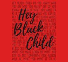 Hey Black Child (light background) One Piece - Short Sleeve