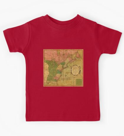 American Revolutionary War Era Maps 1750-1786 351 Bowles's new pocket map of the United States of America the British possessions of Canada Nova Scotia and Kids Tee