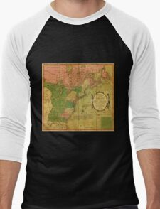 American Revolutionary War Era Maps 1750-1786 351 Bowles's new pocket map of the United States of America the British possessions of Canada Nova Scotia and Men's Baseball ¾ T-Shirt