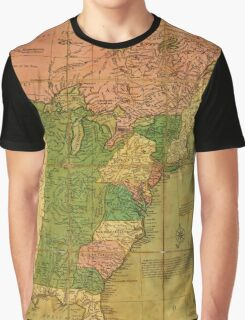 American Revolutionary War Era Maps 1750-1786 351 Bowles's new pocket map of the United States of America the British possessions of Canada Nova Scotia and Graphic T-Shirt