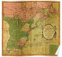 American Revolutionary War Era Maps 1750-1786 351 Bowles's new pocket map of the United States of America the British possessions of Canada Nova Scotia and Poster