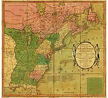 American Revolutionary War Era Maps 1750-1786 351 Bowles's new pocket map of the United States of America the British possessions of Canada Nova Scotia and Photographic Print