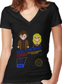 NINTENDO: NES DOCTOR WHO  Women's Fitted V-Neck T-Shirt