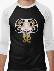 Luck & Good Fortune Daruma Men's Baseball ¾ T-Shirt