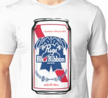 Pugs Blue Ribbon Unisex T-Shirt