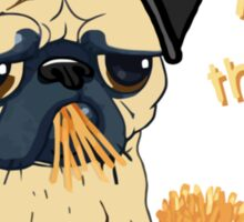 Pugs with Extra Fries Sticker