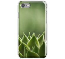 Green Succulent leaves iPhone Case/Skin