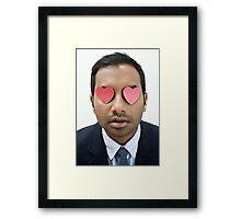 aziz ansari Framed Print