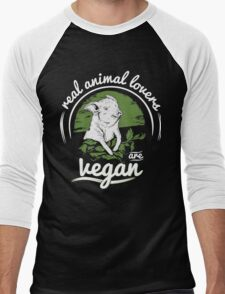 Vegan Men's Baseball ¾ T-Shirt