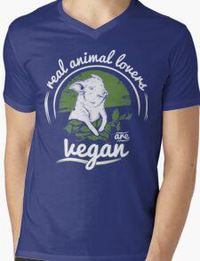 Vegan Mens V-Neck T-Shirt