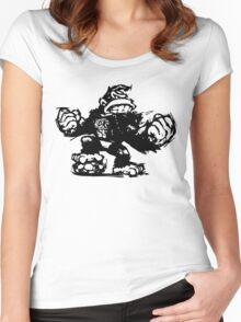 King Kong Sketch Funny Men's Tshirt Women's Fitted Scoop T-Shirt