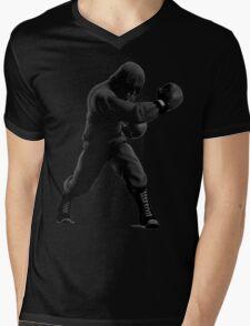 B&W Hoodie Mac Mens V-Neck T-Shirt