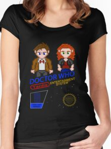 NINTENDO: NES DOCTOR WHO Women's Fitted Scoop T-Shirt