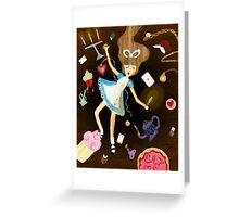 In The Rabbit Hole Greeting Card