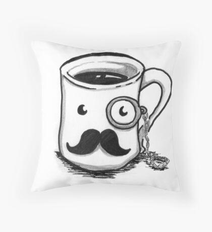Dapper Mug Throw Pillow