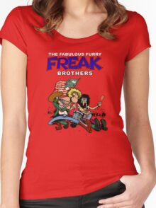 Fabulous Freak Brothers Women's Fitted Scoop T-Shirt