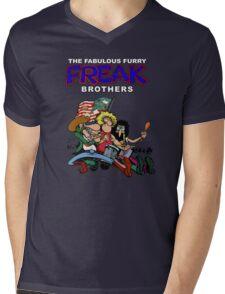 Fabulous Freak Brothers Mens V-Neck T-Shirt