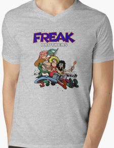 Fabulous Freak Brothers Mens V-Neck T-Shirt