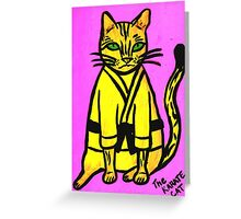The Karate Cat Greeting Card