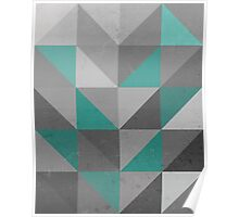 Right Angles Teal Poster