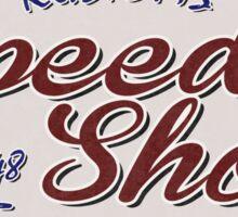 Speed Shop Sticker