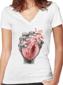 Death Grip Women's Fitted V-Neck T-Shirt