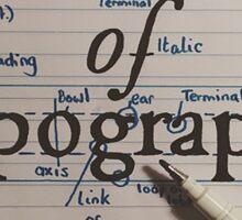 Anatomy of Typography Sticker