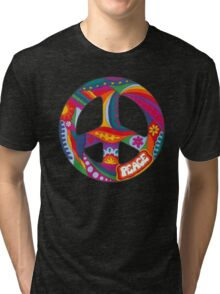 Psychedelic Peace Symbol Tri-blend T-Shirt