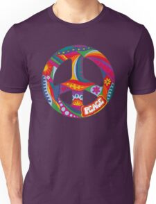 Psychedelic Peace Symbol Unisex T-Shirt
