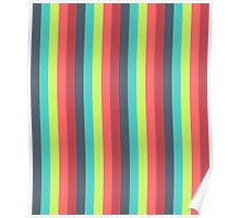 Cheer Up Striped Pattern Poster