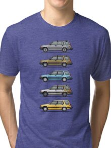 Stack Of Mark's Toyota Tercel Al25 Wagons Tri-blend T-Shirt