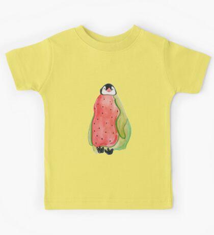 Baby Watermelon Penguin Kids Tee