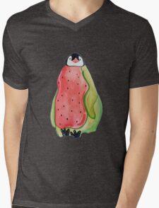 Baby Watermelon Penguin Mens V-Neck T-Shirt