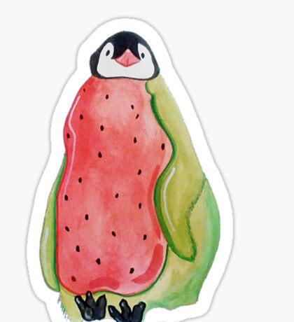 Baby Watermelon Penguin Sticker