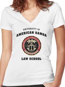 University of American Samoa Law School  Women's Fitted V-Neck T-Shirt