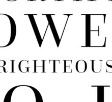 Proverbs 18:10 Bible Quote Sticker