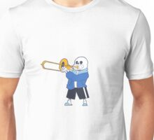 Sans from Undertale Playing the Trombone Unisex T-Shirt