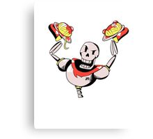 Papyrus from Undertale Holding Spaghetti Canvas Print