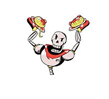 Papyrus from Undertale Holding Spaghetti Photographic Print