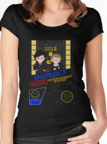 NINTENDO: NES SHERLOCK Women's Fitted Scoop T-Shirt