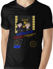 NINTENDO: NES SHERLOCK Mens V-Neck T-Shirt