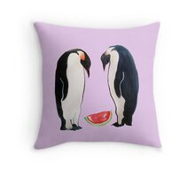 Watermelon Penguin Parents Throw Pillow
