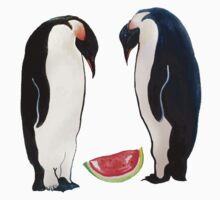 Watermelon Penguin Parents One Piece - Short Sleeve